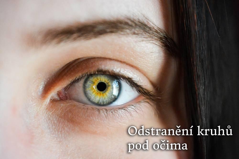 odstranění kruhů pod očima